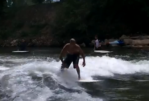 Mini Simmons River Surfing