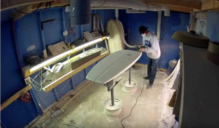 Shaping A Mini Simmons Surfboard